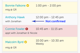 Appointment confirmations in GoReminders